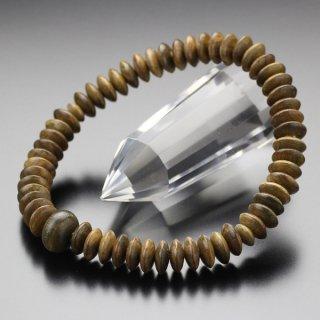 数珠ブレスレット 54玉 平玉 緑檀 2000800302586