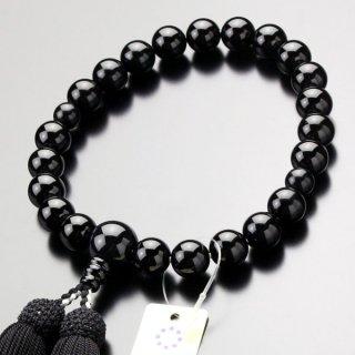 数珠 男性用 22玉 黒オニキス 正絹房 2000100301500