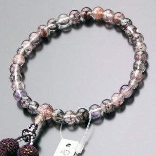 数珠 女性用 約8ミリ エレスチャル 正絹頭付房 2000200700630 送料無料