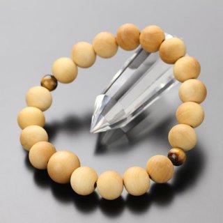 数珠ブレスレット 約10ミリ 柘植(艶消し)二天 虎目石 107100031