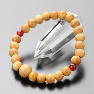 数珠ブレスレット 約8ミリ 柘植(艶消し) 二天瑪瑙【107080078】