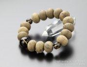 みかん珠 鉄刀木(たがやさん) 茶水晶 腕輪念珠【数珠】【107000108】