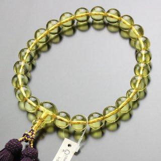 鑑別書付き 数珠 男性用 22玉 原色琥珀 正絹房 101220101 送料無料