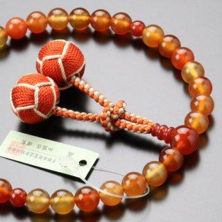 数珠 女性用 約8ミリ 天然瑪瑙 2色梵天房 2000200302490 送料無料