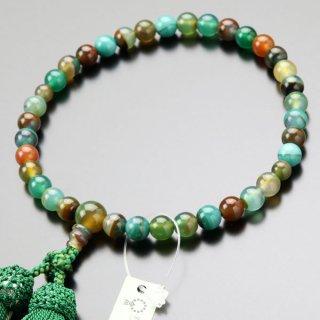 数珠 女性用 約7.5ミリ モンタナ瑪瑙 正絹2色房 2000200400943 送料無料