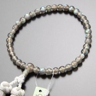 数珠 女性用 約7ミリ 4A´ ラブラドライト 銀花かがり房 102070022 送料無料
