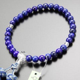 数珠 女性用 約8ミリ 3A´ ラピス カット水晶 銀花かがり房 2000200402770 送料無料