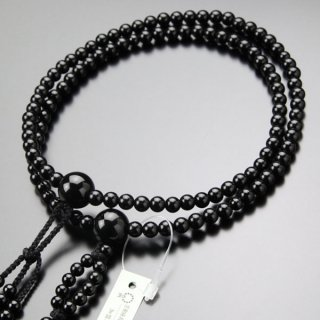 日蓮宗 数珠 男女兼用 尺寸 黒オニキス 梵天房 2000300400621 送料無料