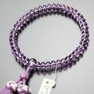 数珠 女性用 みかん玉 ローズアメジスト 銀花かがり房 2000200700531 送料無料