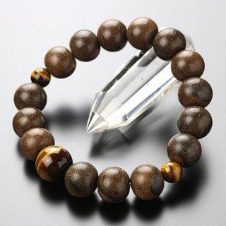 数珠ブレスレット 約13ミリ シャム柿 虎目石 107000056