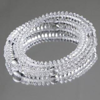 数珠ブレスレット 108玉 平玉 本水晶 107000156 送料無料