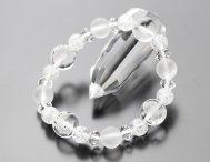 【約12ミリ水晶・四神獣】約10ミリ 淡雪 約8ミリ クラック水晶 天然石ブレスレット