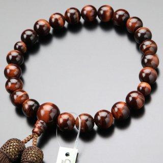 数珠 男性用 22玉 赤虎目石 正絹房 101220117