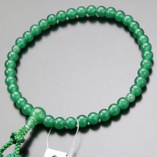 数珠 女性用 約7ミリ 印度翡翠 正絹2色房 102070101