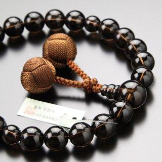数珠 男性用 22玉 茶水晶 梵天房 101220119