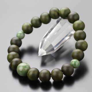 数珠ブレスレット 約10ミリ 緑檀 独山玉 107100045