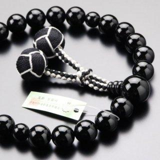 数珠 男性用 22玉 黒オニキス 梵天房 101220120