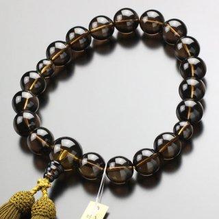 数珠 男性用 18玉 茶水晶 正絹房 101180059 送料無料