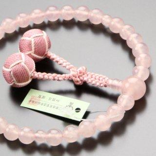 数珠 女性用 約8ミリ 本紅水晶 2色梵天房 102000130 送料無料