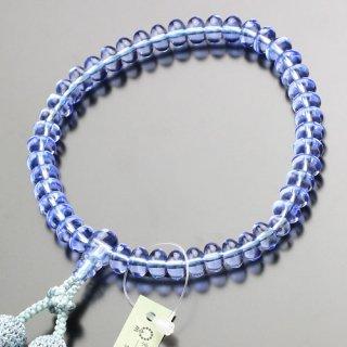 数珠 女性用 みかん玉 ブルークォーツ 正絹2色房 102000099 送料無料