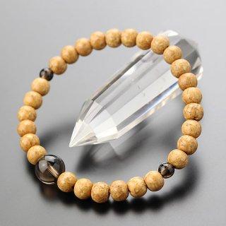 数珠ブレスレット 尺玉 天竺菩提樹 茶水晶 107000178