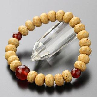 数珠ブレスレット 約7×10ミリ みかん玉 天竺菩提樹 瑪瑙 2000800400268 送料無料
