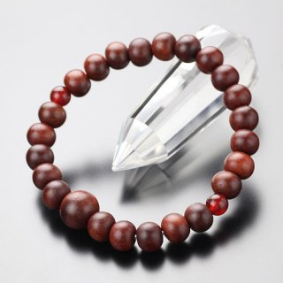 数珠ブレスレット 約8ミリ 紫檀 二天 瑪瑙 107080075
