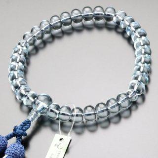 数珠 男性用 31玉 みかん玉 ブルークォーツ 正絹2色房 101000032 送料無料