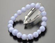 約10mm ブルーレース 数珠ブレスレット【腕輪念珠 天然石 パワーストーン】【送料無料】