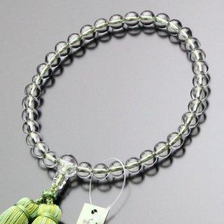 数珠 女性用 約8ミリ 上質 本水晶 正絹頭付2色切房 102080026 送料無料
