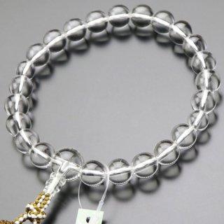数珠 男性用 22玉 本水晶 正絹房 101220060
