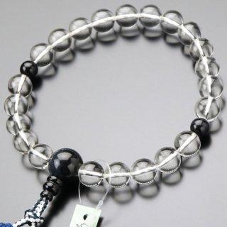 数珠 男性用 22玉 本水晶 青虎目石 正絹2色房 101220144 送料無料
