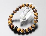数珠ブレスレット 守り本尊梵字入り(約10ミリ・オニキス) 約8ミリ 虎目石 数珠ブレスレット【パワーストーン】