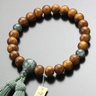 数珠 男性用 22玉 本桑 青苔瑪瑙 正絹房 101220024 送料無料