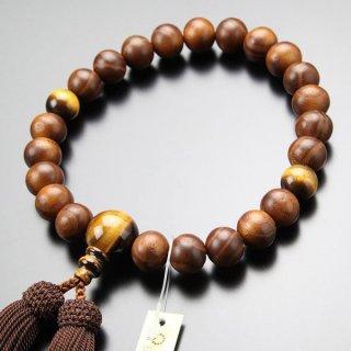 数珠 男性用 22玉 本桑 虎目石 正絹房 101220201 送料無料