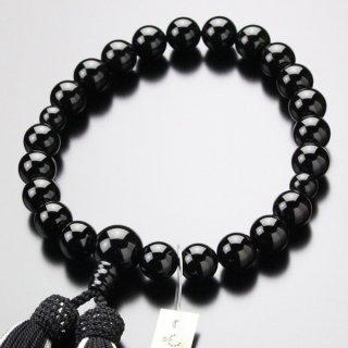 数珠 男性用 22玉 黒オニキス 正絹2色房 101220030