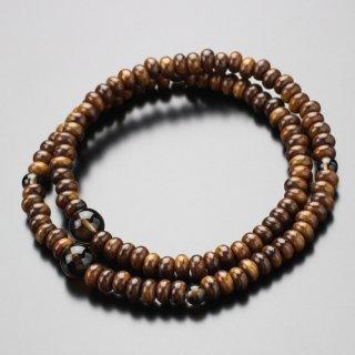 数珠ブレスレット 108玉 栴檀(艶有) 茶水晶【腕輪念珠 108珠 パワーストーン 天然石】