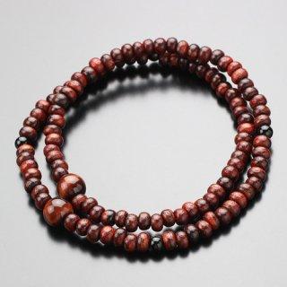 数珠ブレスレット 108玉 虎檀(艶有り)赤虎目石 オニキス 107000151