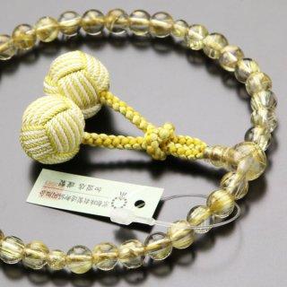 【写真現品お届け】数珠 女性用 約7ミリ ルチルクォーツ 梵天房 2000200700173 送料無料
