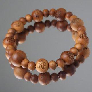 数珠ブレスレット 八体仏 白檀 (インド産)108000032