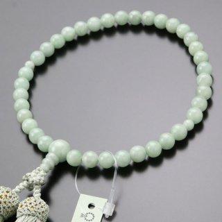 数珠 女性用 約7ミリ ビルマ翡翠 正絹2色房 102070026 送料無料