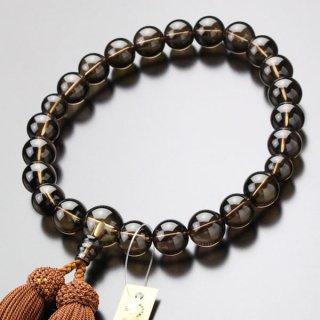 数珠 男性用 22玉 茶水晶 正絹房 101220031
