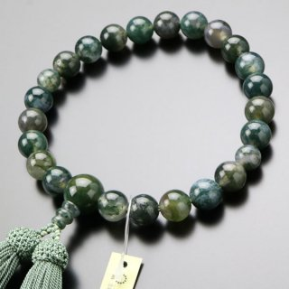 数珠 男性用 22玉 青苔瑪瑙 正絹房 101220037 送料無料