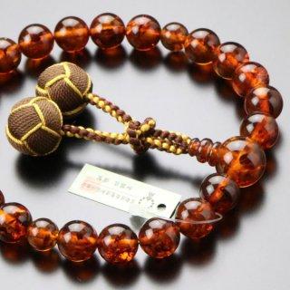 数珠 男性用 22玉 琥珀 2色梵天房 101220164 送料無料