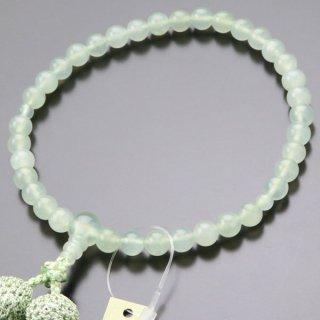 数珠 女性用 約7ミリ グリーンオニキス 正絹2色房 102070038
