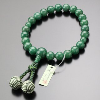 数珠 男性用 22玉 上質 印度翡翠 2色梵天房 101220183 送料無料