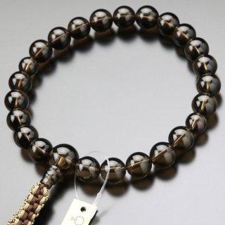 浄土真宗 数珠 男性用 22玉 茶水晶 紐房 101220174