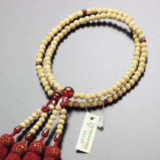 八宗派兼用 数珠 女性用 8寸 星月菩提樹 瑪瑙 正絹房 102880118 送料無料