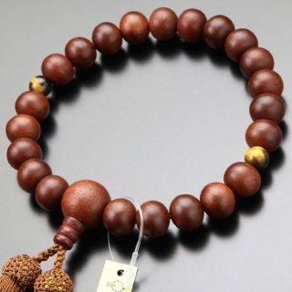 数珠 男性用 22玉 紫檀 2天 虎目石 正絹房 101220169