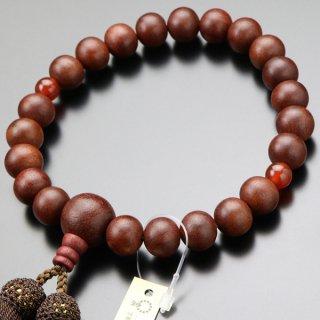 数珠 男性用 22玉 紫檀 2天 瑪瑙 正絹房 101220168